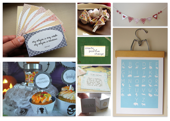 kind over matter: How To Create Your Own Printable Party Decor Kit.
