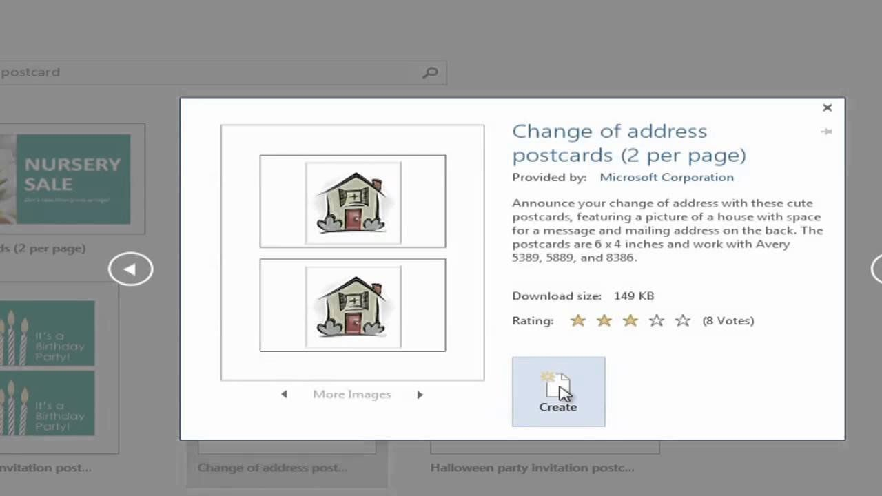 Microsoft Word Postcard Template How To Create Postcards With Microsoft Word Using Postcard Template Microsoft Word Resume Template Professional Templates