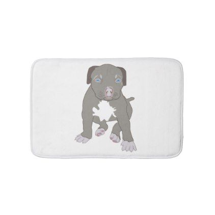 Pitbull Puppy Bath Mat Zazzle Com Pitbull Puppy Puppies