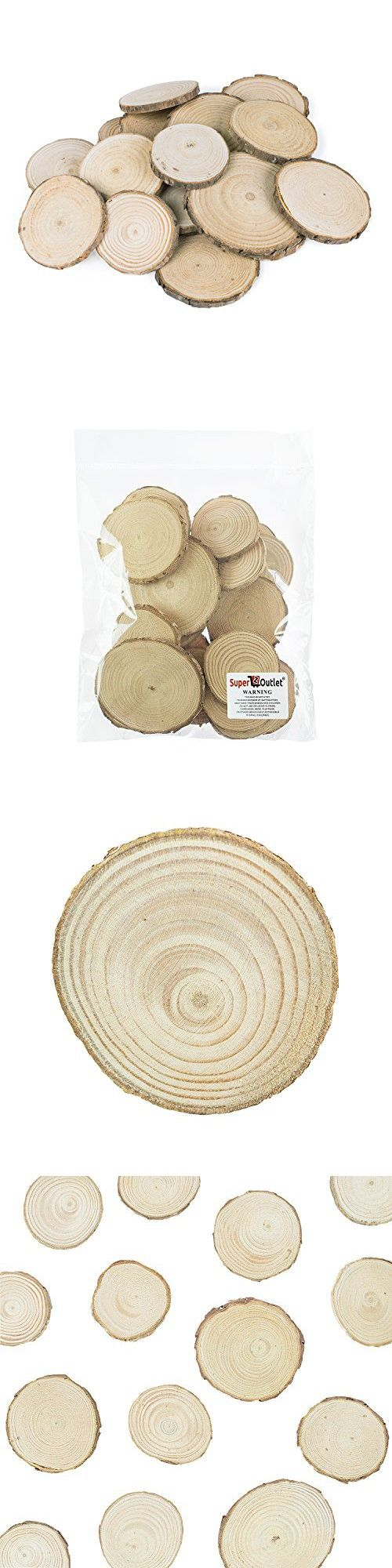 Mini Assorted Size Natural Color Tree Bark Wood Slices Round Log ...