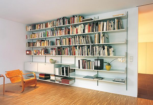 The Most Practical Shelving System From 1960 Wall Mounted Bookshelves Wall Mounted Shelves Shelving Systems