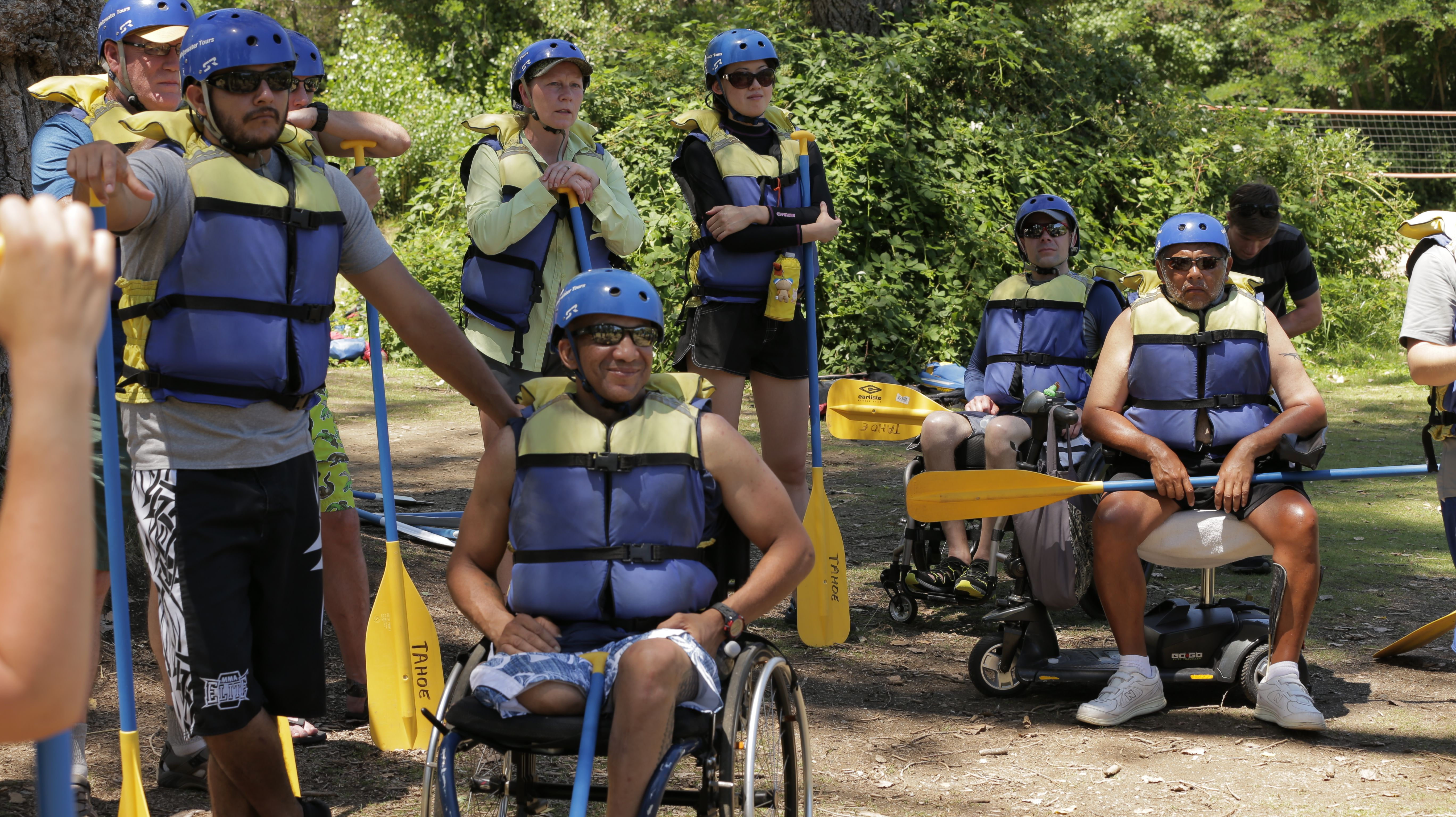Disabled Military Service Members getting ready for