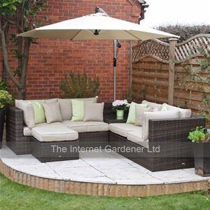 Leisuregrow madrid rattan corner sofa set new 2013 for Sofa exterior esquina