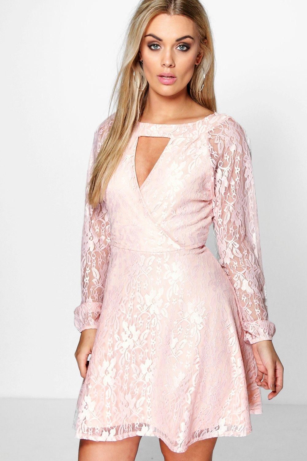 Plus Lace Skater Dress   Boohoo in 2019   Holidays   Dresses ...