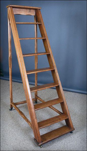 Antiques Library Ladder Diy Home Improvement Ladder