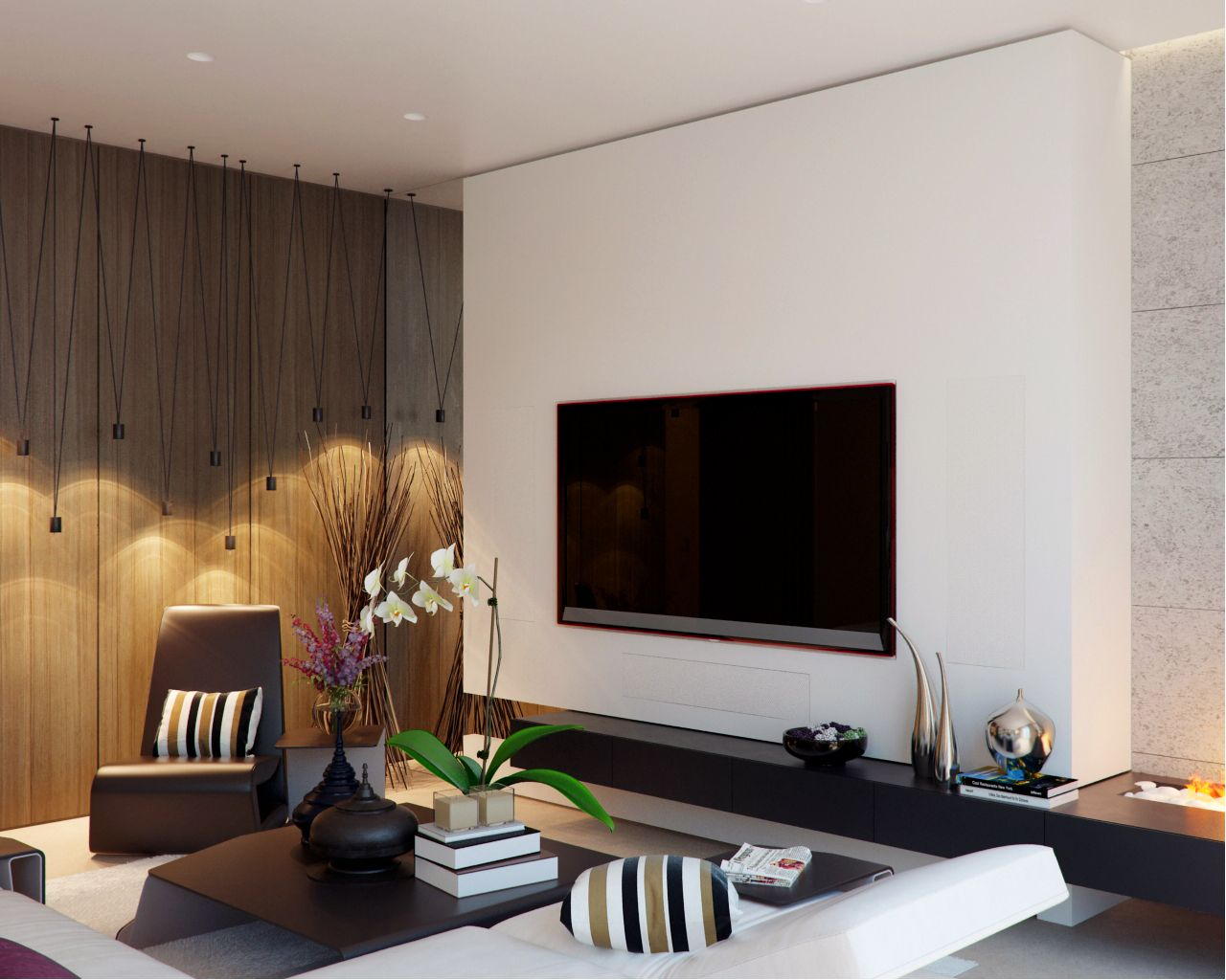 гостиная D дизайнпроекты Pinterest Tv walls Living rooms