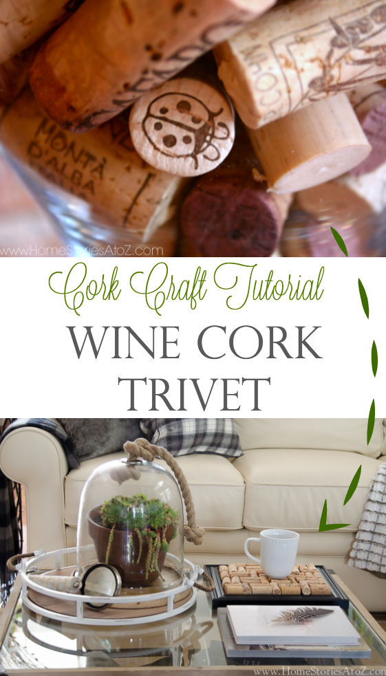 Don't throw out those wine corks! Very easy wine cork craft. DIY wine cork trivet tutorial.