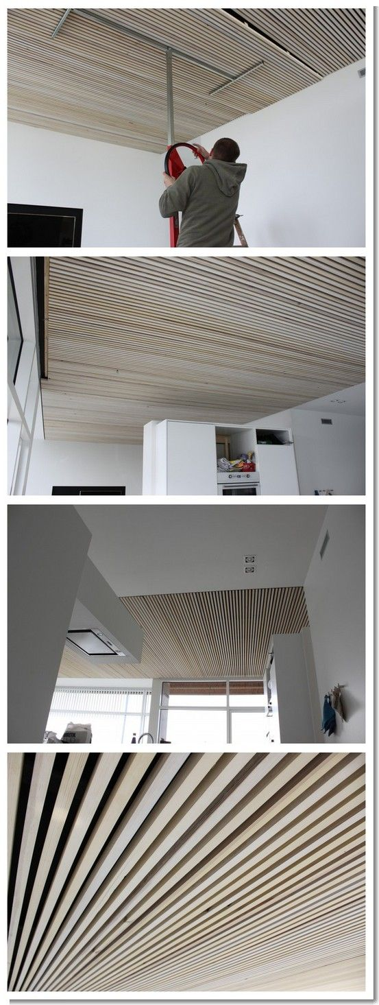 Bois acoustique plafond couleur p u00e2le Kprod Factory Pinterest Acoustique, Plafond et Bois # Plafond Acoustique Bois