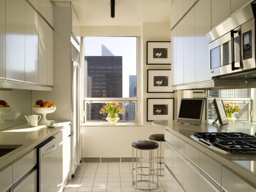 Kitchen design Nancy Corzine designed this galley