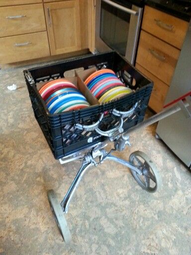 disc golf cart made