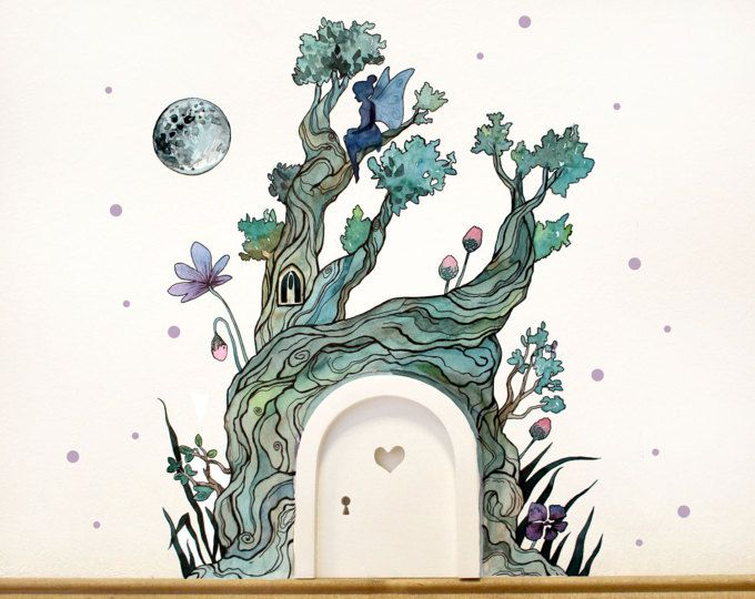 Imp Door Elf Door Wall Sticker Fairy Door Fee And Magical Fairies