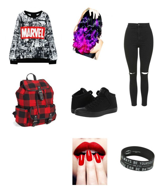 """My friend's first outfit"" by ar03 on Polyvore featuring Converse, Leg Avenue, Aéropostale and Topshop"