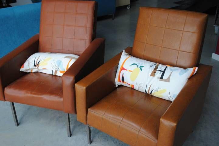Fauteuils Simili Cuir Annees 70 Vintage Decoration Maison Simili Cuir Annees 70 Vintage