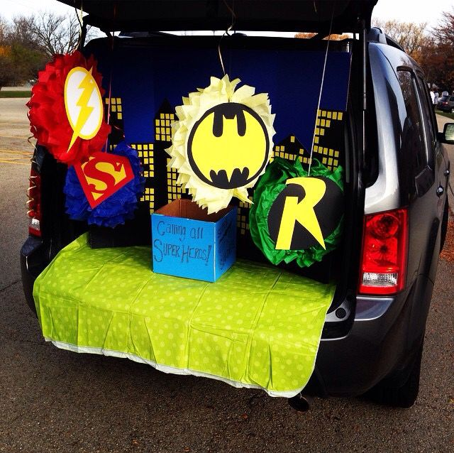 Super Hero Trunk Or Treat Halloween Costumes Trunk Or Treat