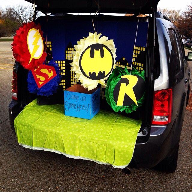 Trunk Halloween Decorating Ideas: Super Hero Trunk Or Treat