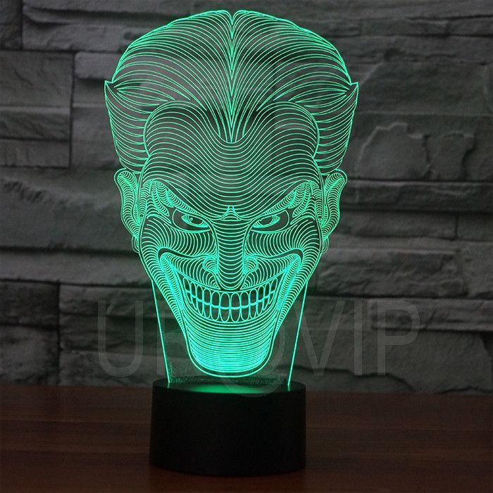 Joker 3d Illusion Led Bulbing Table Lamp Night Light 3d Illusion Lamp 3d Led Lamp 3d Illusions