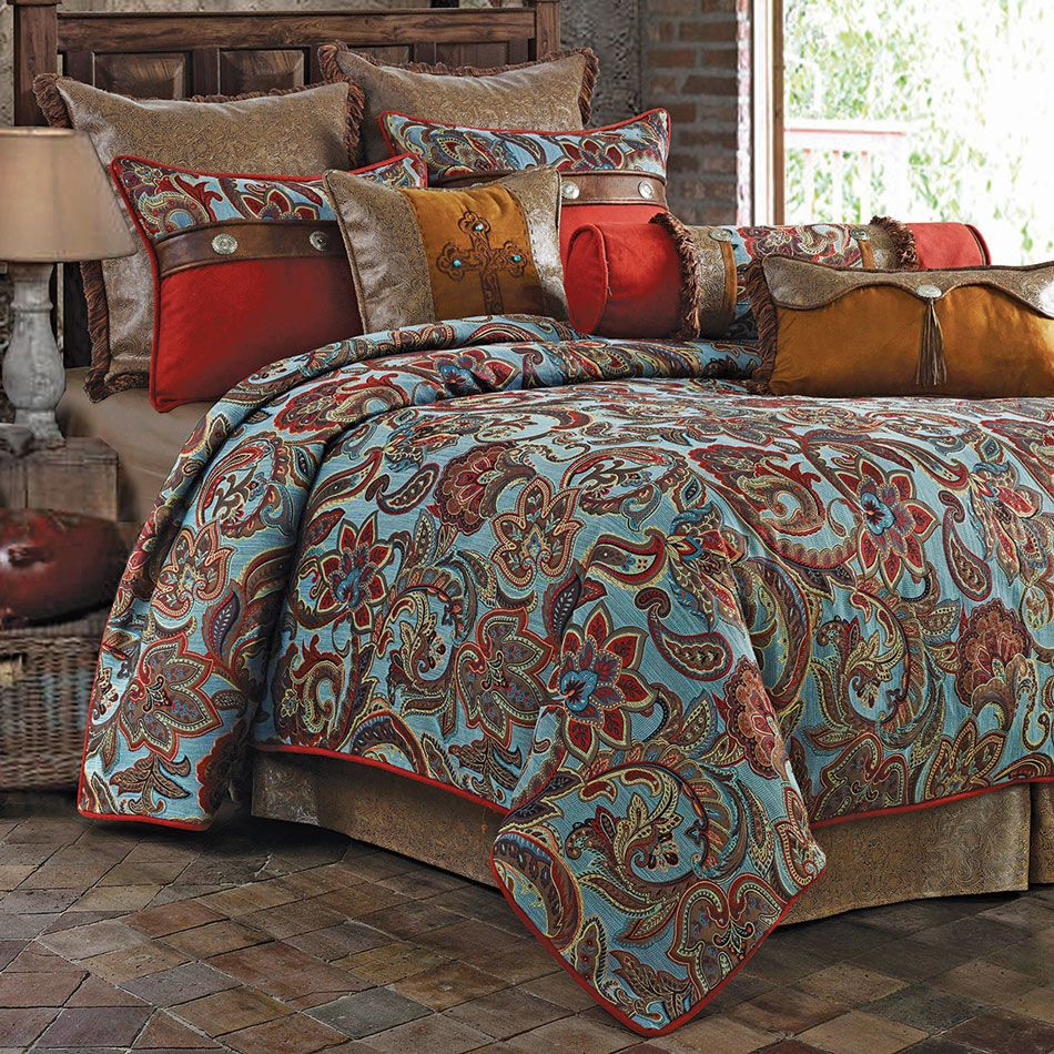 Paisley Meadows Bed Set King Bed linens luxury, Full