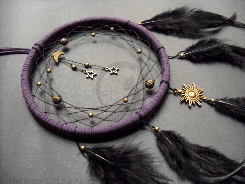 How Are Dream Catchers Made Midnight Universe Dream Catcher Hand Made by TheInnerCat 1