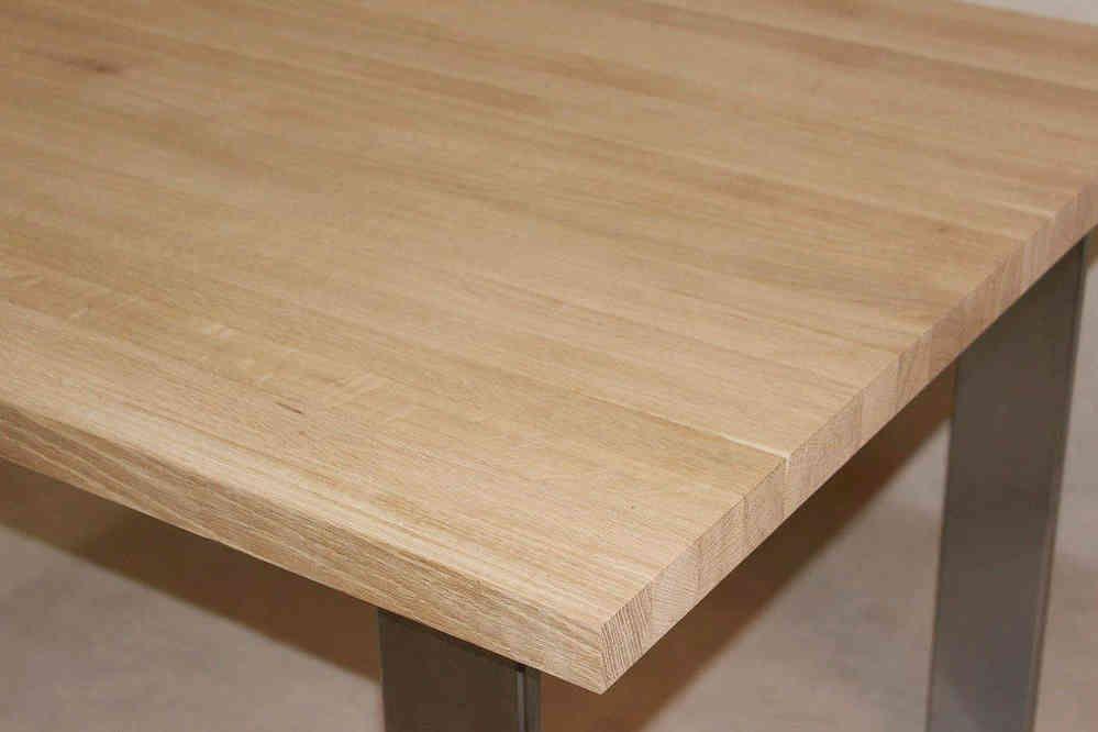 Tischplatte Holz / Massivholz Eiche DL 40/1800/900