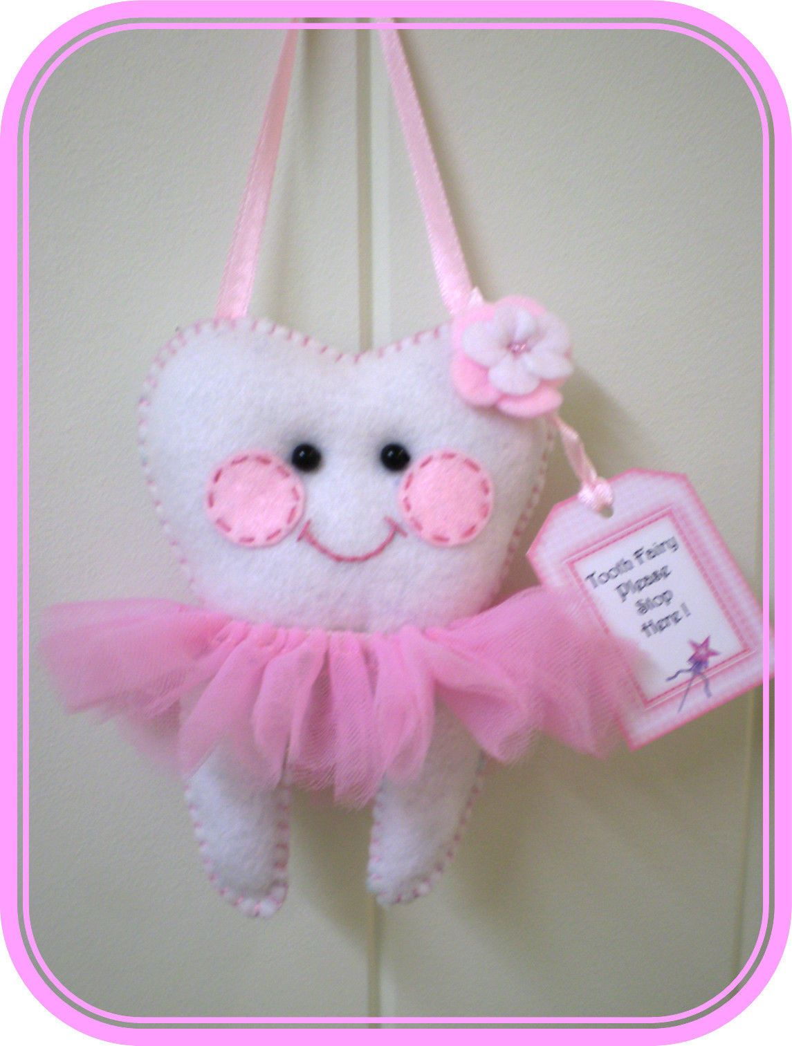 Cute Tooth Pillow : Tooth Fairy Pillow - Ballerina -Cute H/made **Lost Tooth Goes In Back Pocket Tooth fairy ...