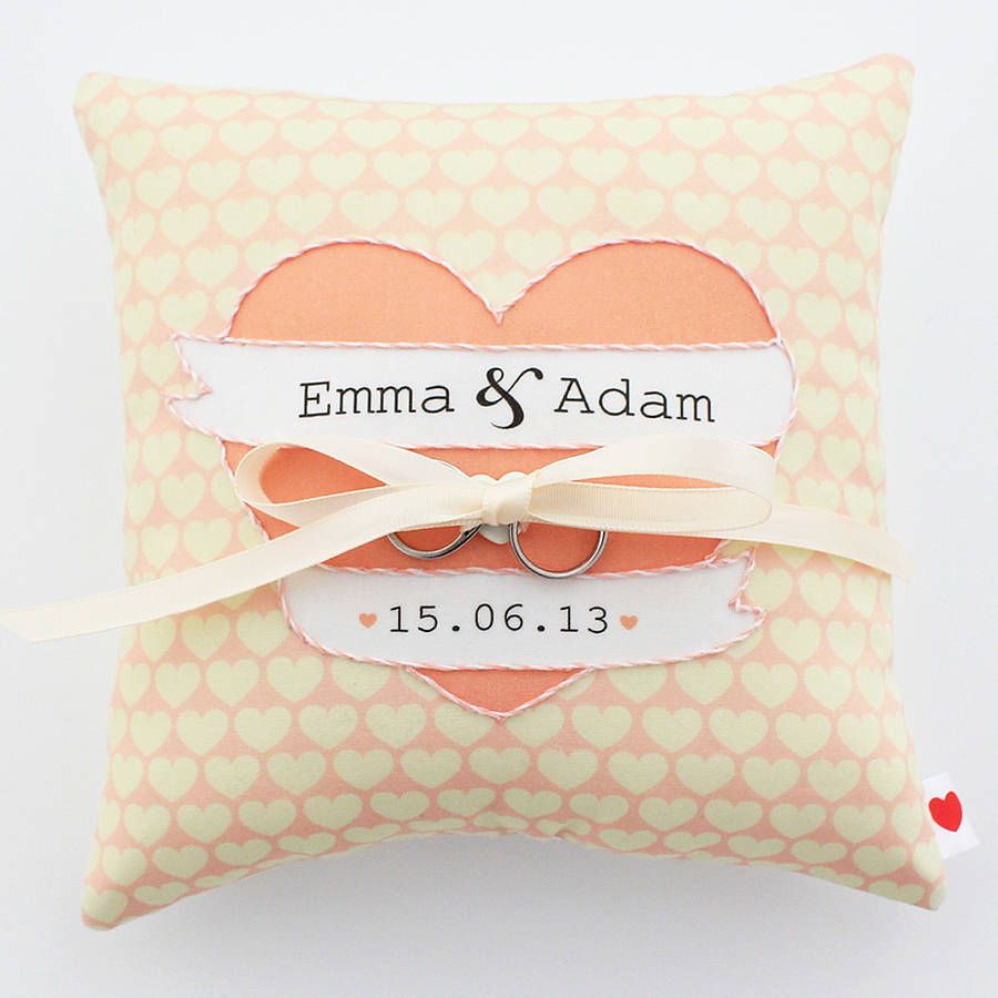 Personalised Wedding Ring Pillow Ring pillows Wedding ring