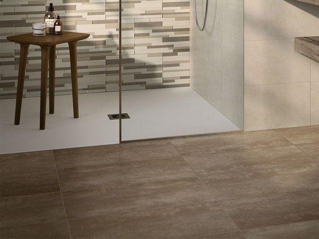 Gres porcellanato effetto cemento semilucido - Piastrelle effetto legno per bagno ...