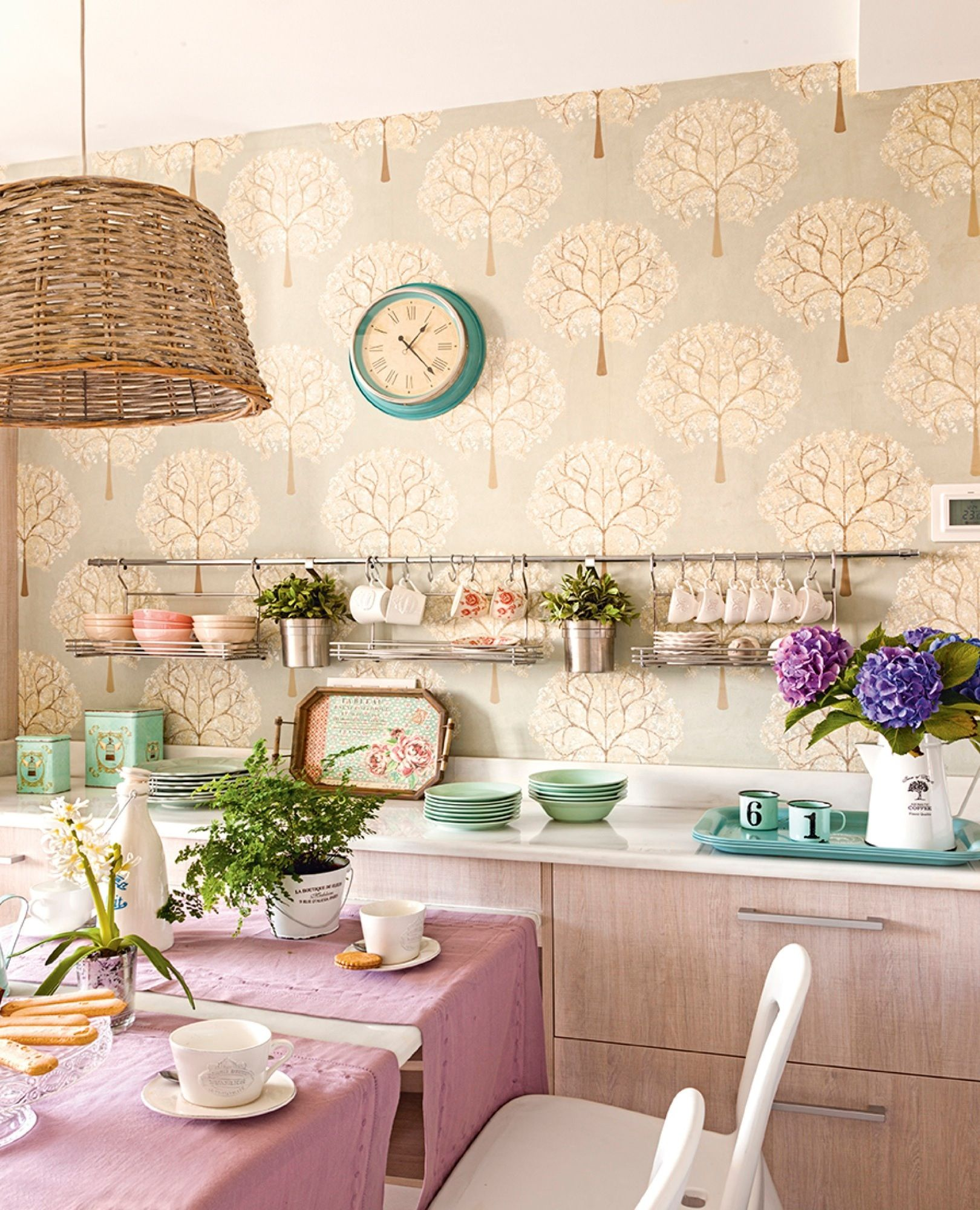 Decora Tu Casa Con Papel Pintado Papel Pintado Pinterest  ~ Formas De Pintar Paredes Interiores