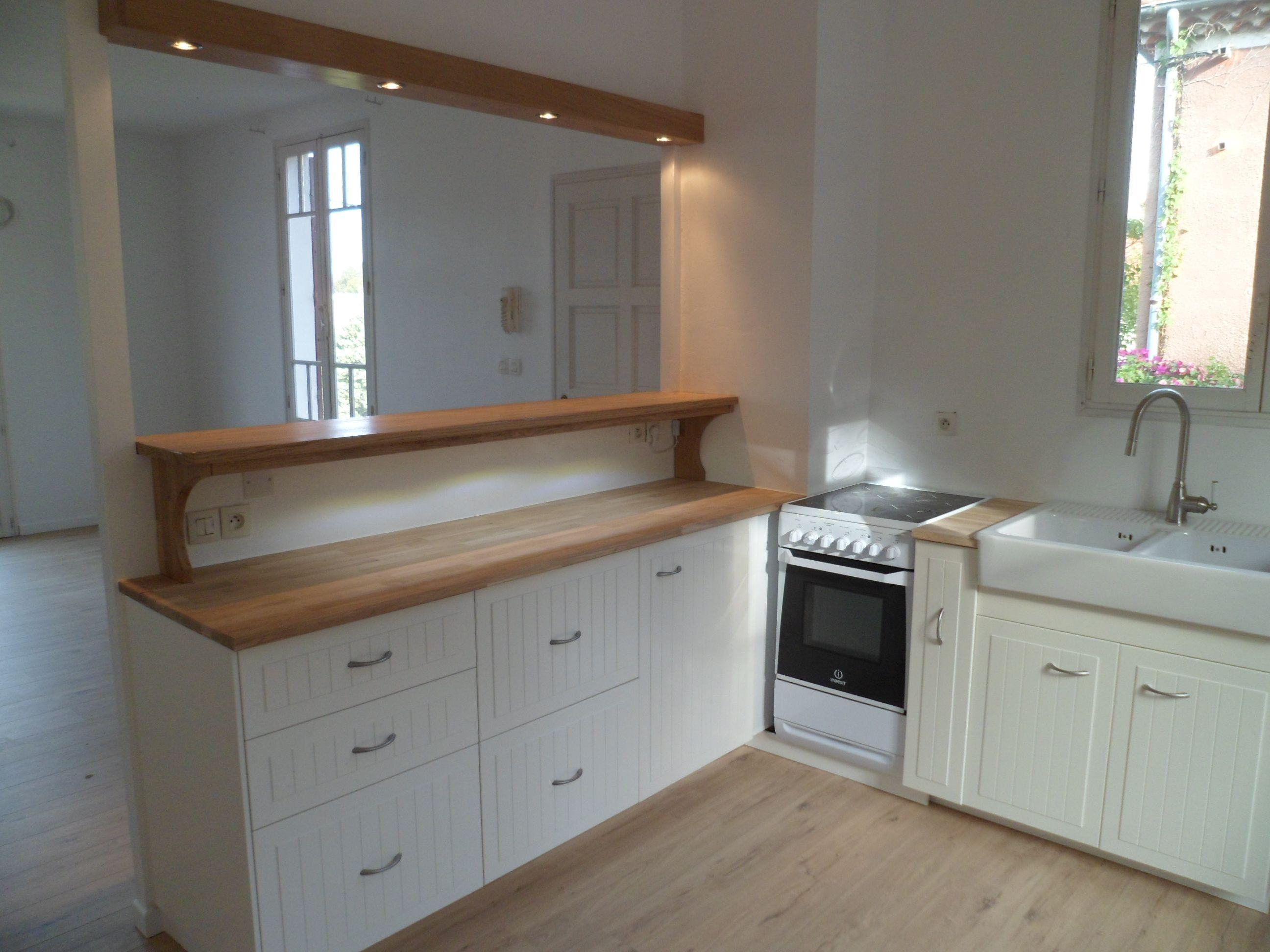 Custom Design Kitchen By Johnny Brico With Open Access To Living Room Features Oak Flooring Oak Meuble Cuisine Meuble Plan De Travail Cuisine Ikea Meuble Bas