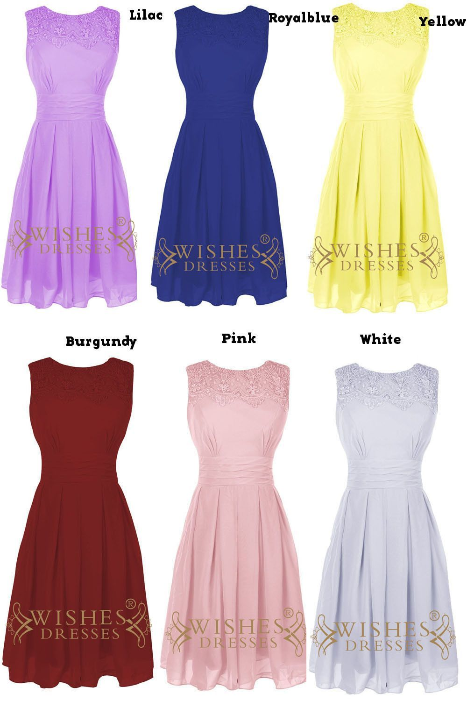 Lace top detail dark navy chiffon short bridesmaid dresses short