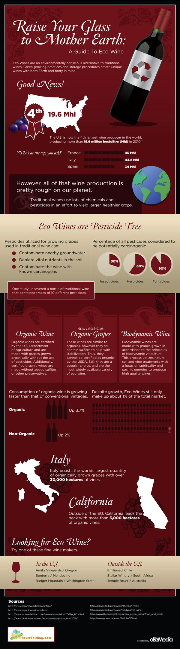 Guide To Eco Wine Infographic Eat Drink Better Wine Infographic Wine Guide Wine Facts