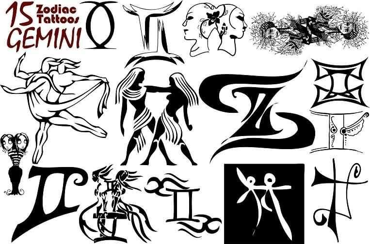 Gemini Tattoos Designs And Ideas Gemini Zodiac Tattoos Gemini Tattoo Gemini Tattoo Designs