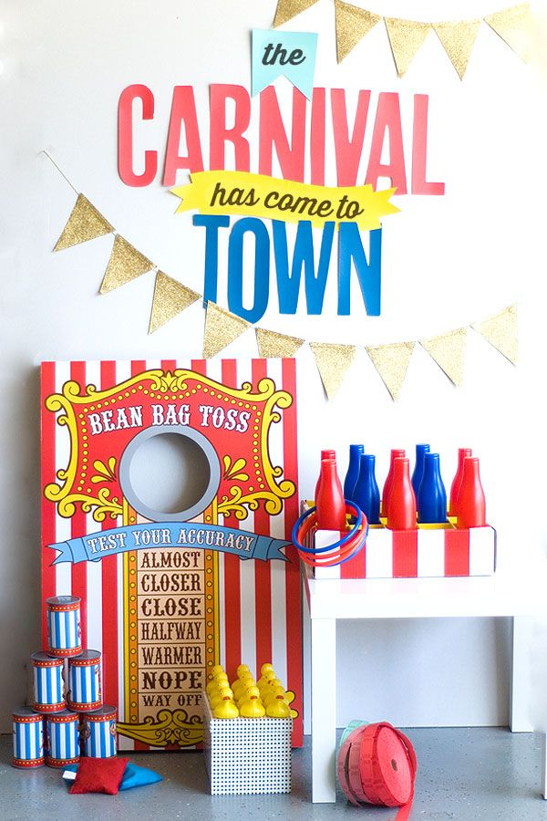diy carnival party ideas plus free printable festival pinterest