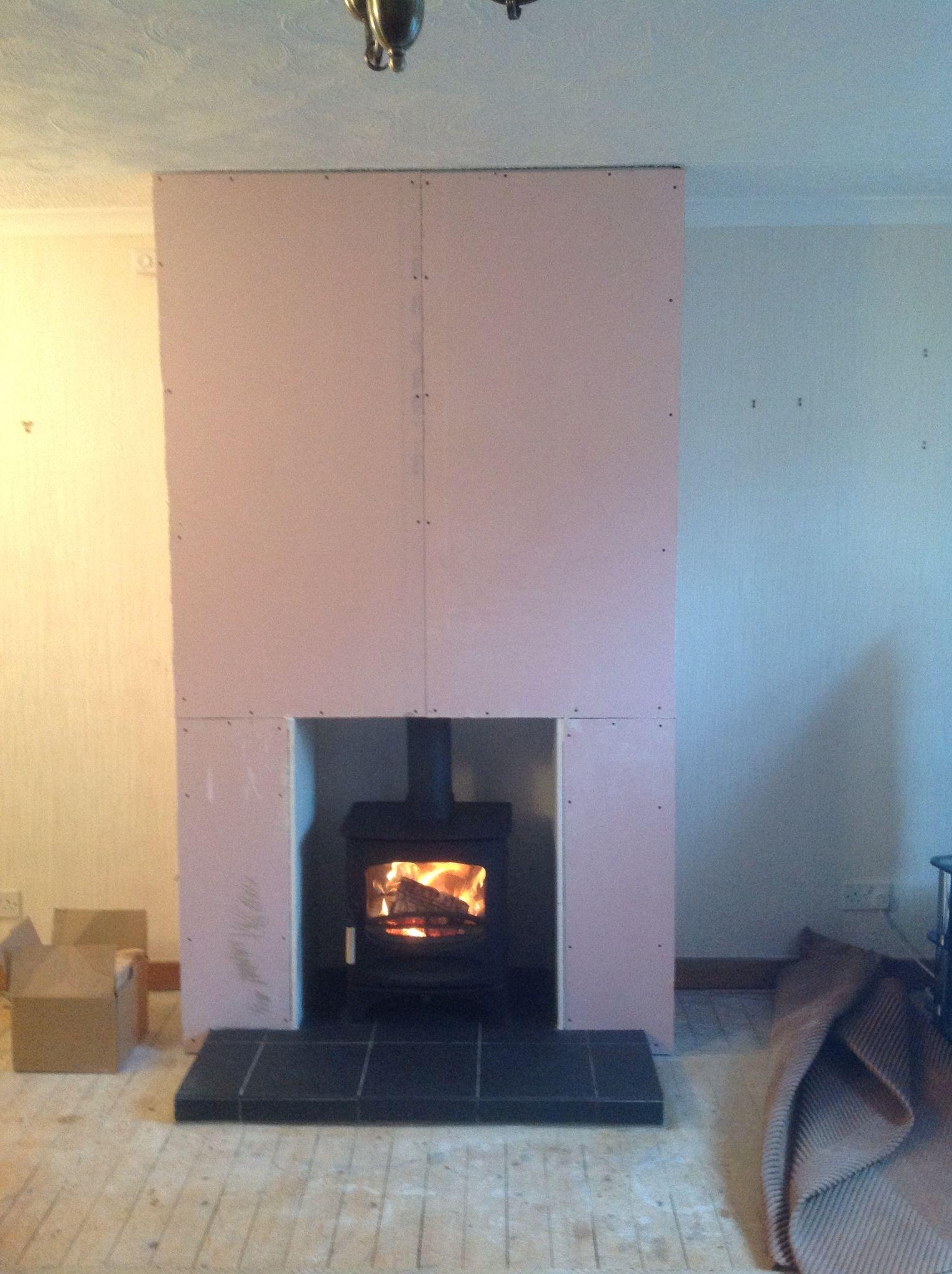 Plasterboard false chimney breast  False chimney in 2019
