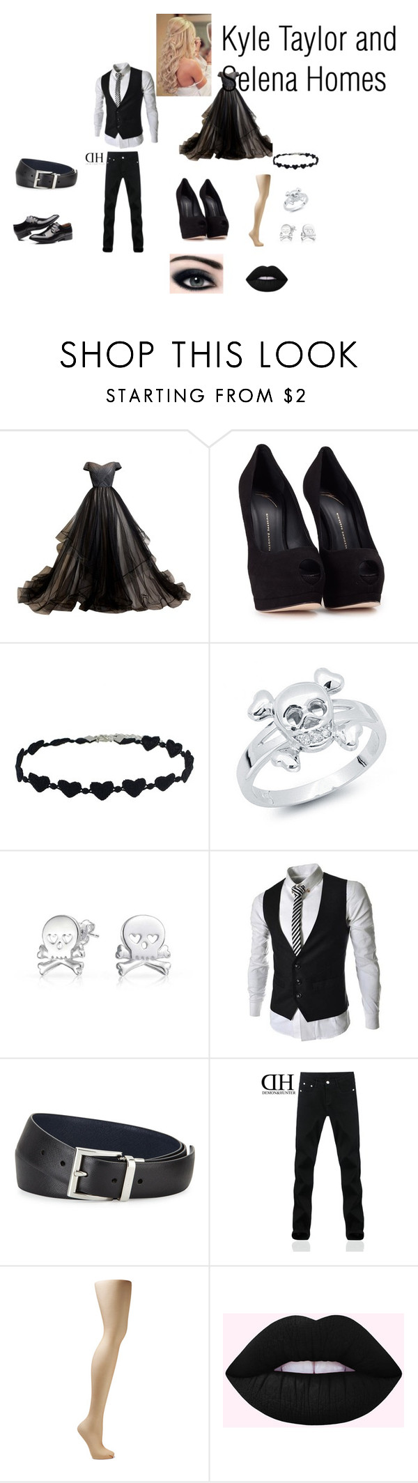"""""""Kyle and Selena"""" by md121728 on Polyvore featuring Giuseppe Zanotti, Bling Jewelry, Prada and Wolford"""