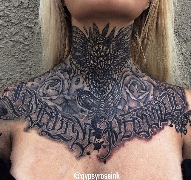 Throat Tattoos Throattattoos Necktattoos Neck Tattoos Women Neck Tattoo Throat Tattoo