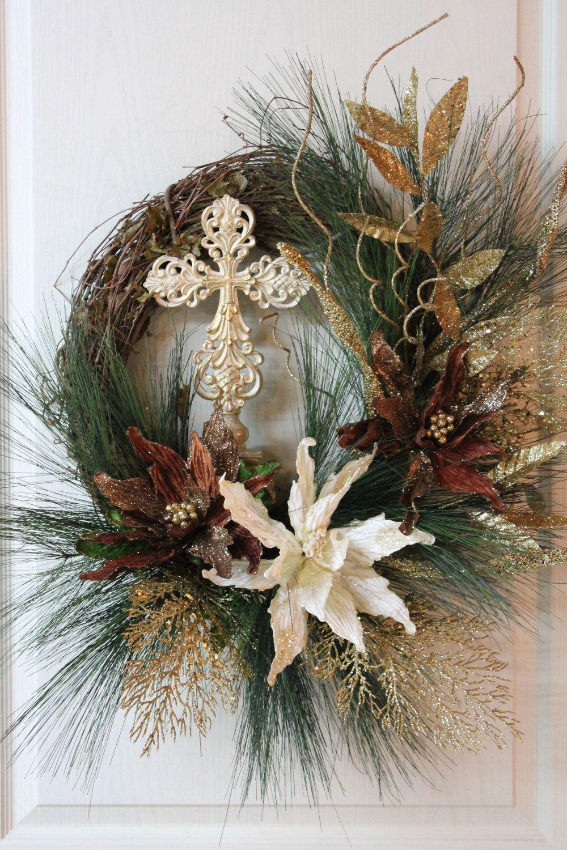 Elegant christmas wreath christmas or winter wreaths swags
