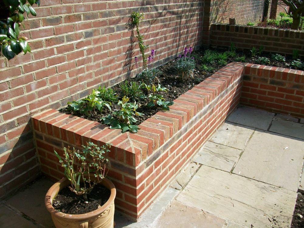 Brick Raised Garden Beds Landscape Gardener Stonemason Driveway