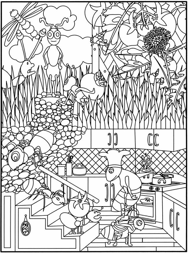 coloring pages for children by dover publications __ garden party flower designs