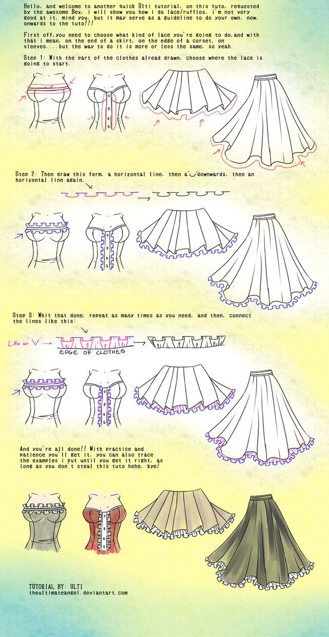 Quick Lace/ruffles tutorial by ~TheULTImateAngel on deviantART
