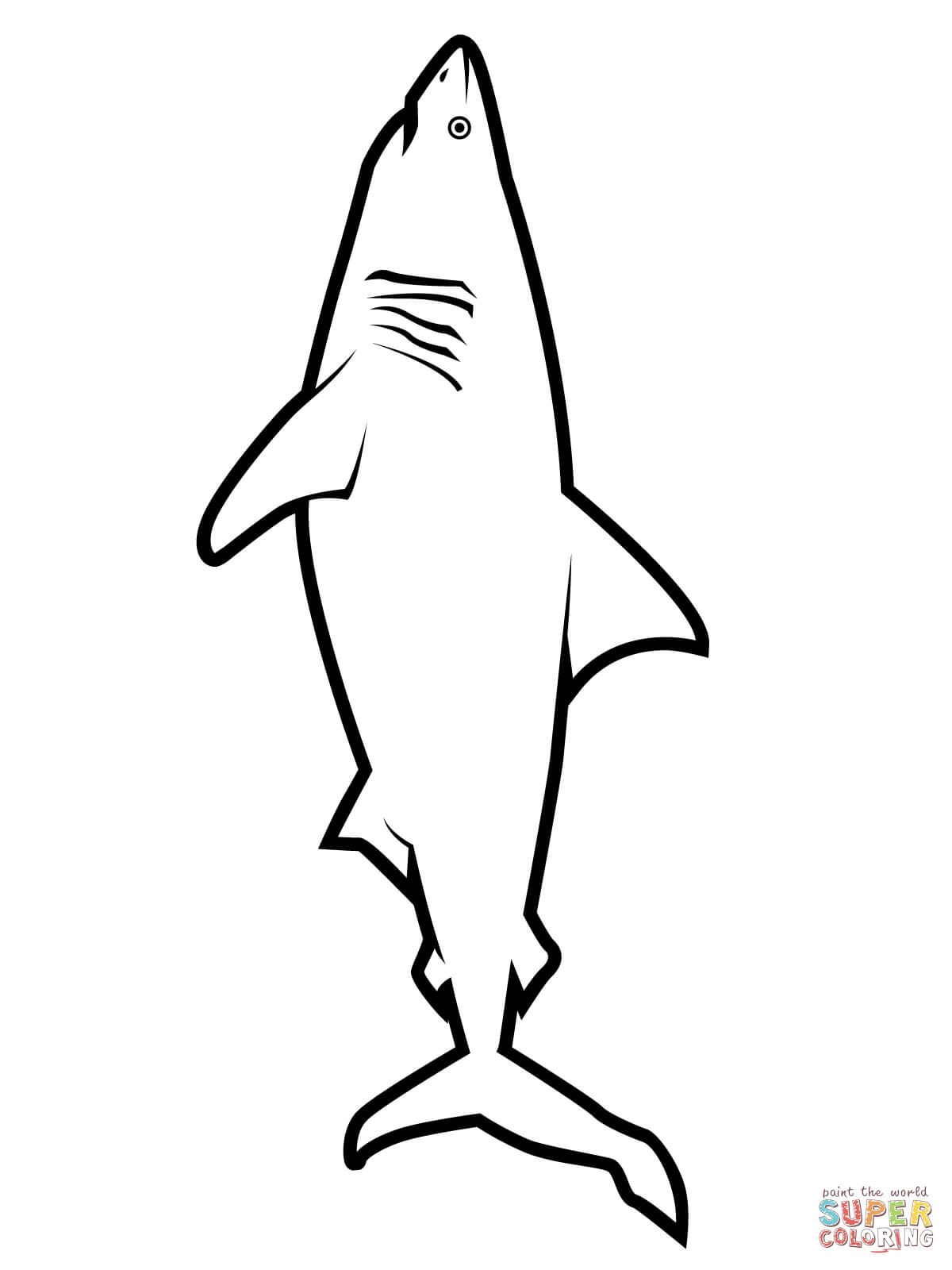 great white shark coloring page # 13