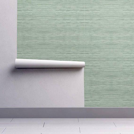 Green Grasscloth Wallpaper Grasscloth In Coastal Green By Etsy Grasscloth Wallpaper Grasscloth Textured Wallpaper