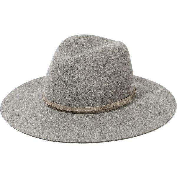 2e842b50371 rag   bone Wool-felt fedora ( 100) ❤ liked on Polyvore featuring accessories