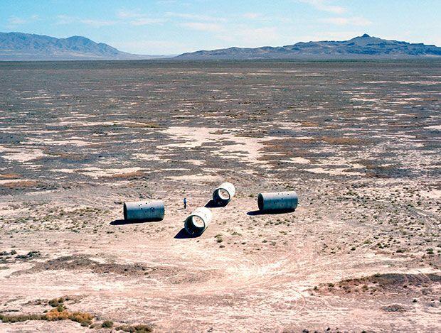 Nancy Holt's Sun Tunnels,1976, Great Basin Desert, Utah
