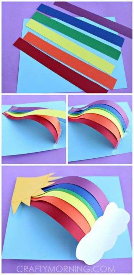 Paper Rainbow Kids Craft