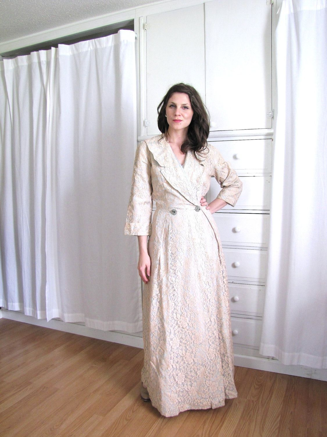 1940 S Dressing Gown House Coat 40s Dressing Gown Gowns Dresses Pretty Robes Gowns