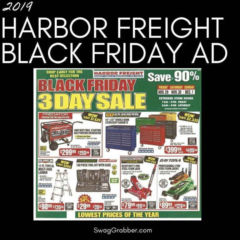 2019 Harbor Freight Black Friday Ad Scan Black friday