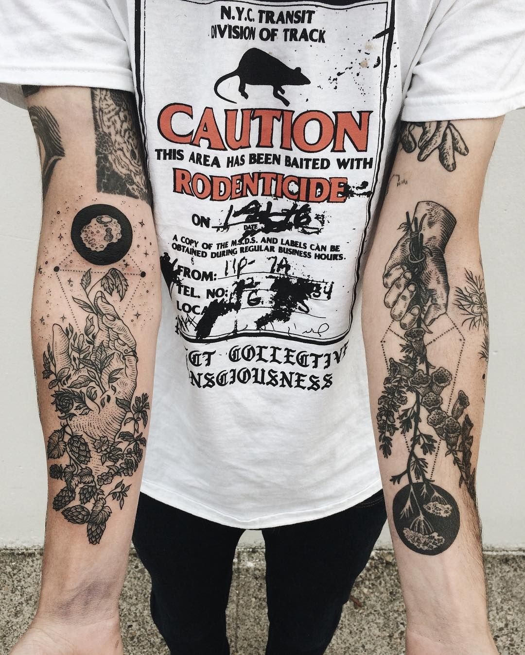 Fresh Hand On Left Healed Hand On Right Foxgloves And Asteroids By Freeorgy Tattoos Sleeve Tattoos Forearm Tattoos