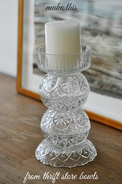 Make These Gorgeous Candleholders Out Of Glass Dessert