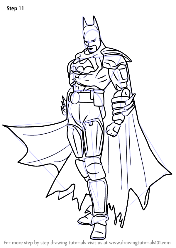 Learn How To Draw Batman From Injustice Gods Among Us Injustice Gods Among Us Step By Step Drawing Tutorials Batman Drawing Drawings Drawing Tutorial
