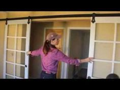 How To Install Pair Hanging Barn Doors Old Sliding Door Hardware
